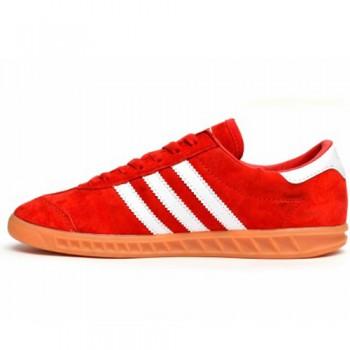 Унисекс кроссовки Adidas Hamburg Suede Red/White