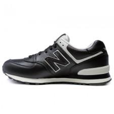New Balance 574 Black/White Leather
