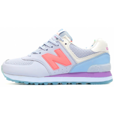 New Balance 574 Dim Blue/Coral/Purple