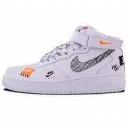 "Nike Air Force 1 Mid ""Just Do It"" White/Black Total Orange"