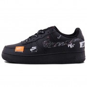 Nike Air Force 1 Just Do It Black Orange
