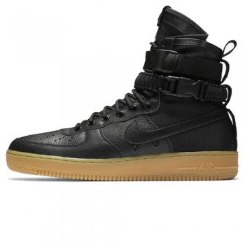 Унисекс кроссовки Nike SF AF1 Special Field Air Force 1 Black/Black-Gum Light Brown