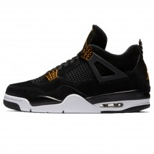 Nike Air Jordan 4 Retro Royalty Unisex Black/Metallic Gold
