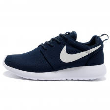 Nike Roshe Run Material Dark Blue/White